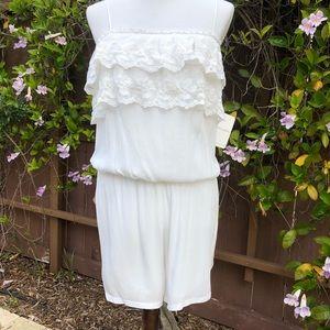 Liberty Garden Anthropologie White Lace Romper M